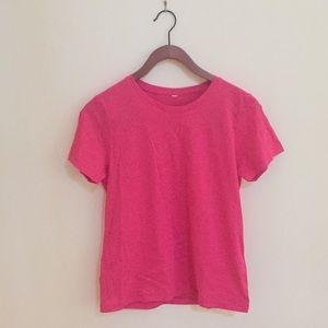 Basic Pink Cotton T-Shirt